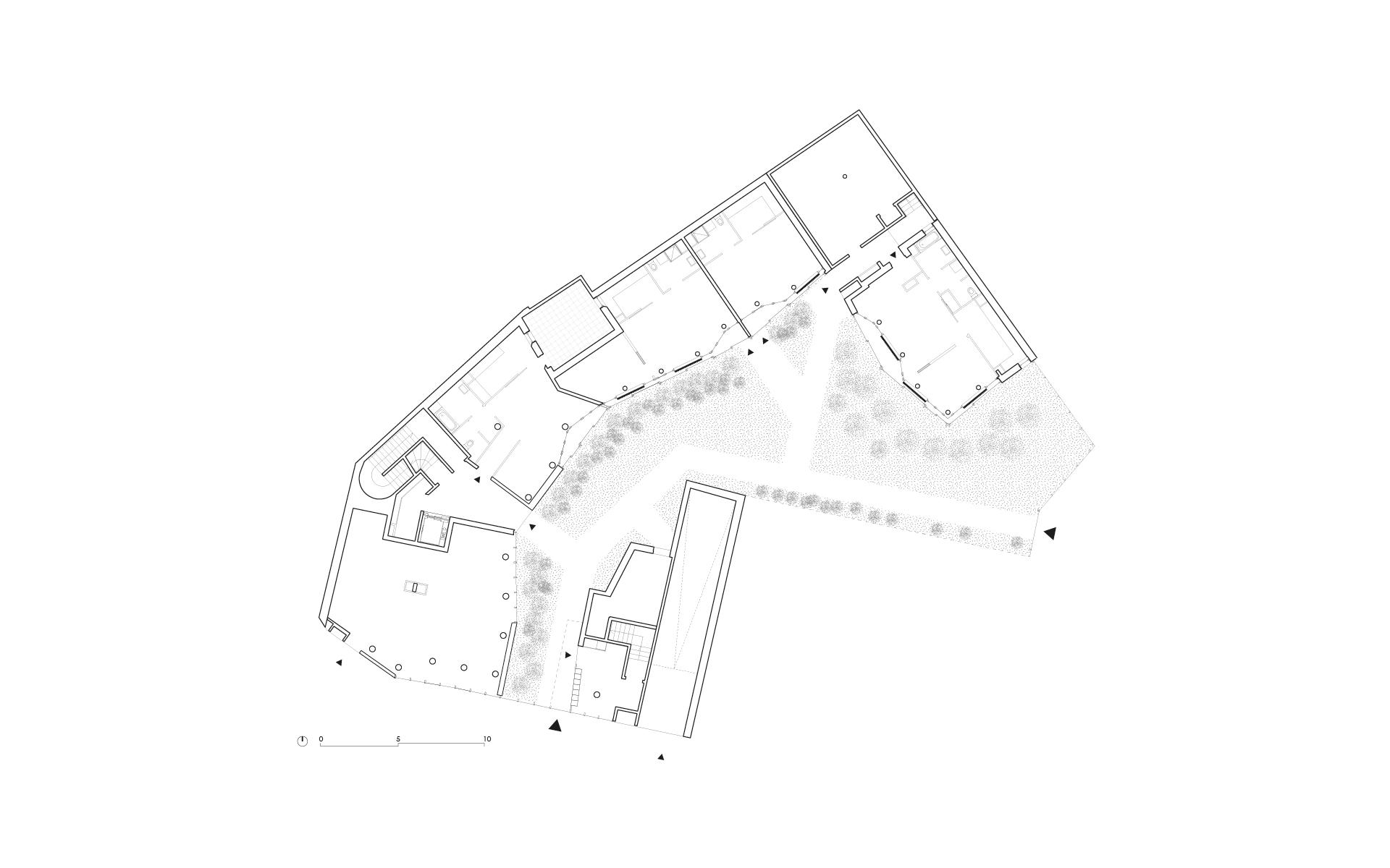 20 logements sociaux exprimentaux rue des orteaux paris xxe. Black Bedroom Furniture Sets. Home Design Ideas